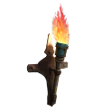 Fire torch left sticker logo