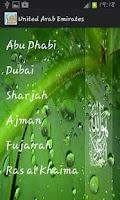 Screenshot of UAE Prayer Timings