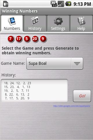Winning Numbers Free