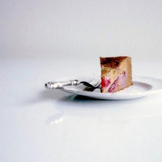 Nigel Slater's Pudding Cake of Honey, Cinnamon, and Plums