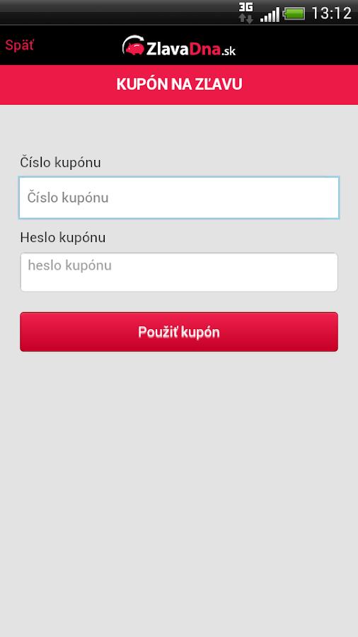 ZlavaDna.sk QR skener - screenshot