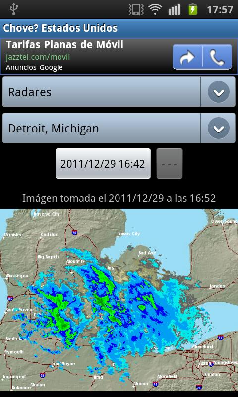 It is raining? Rainfall/Sat- screenshot