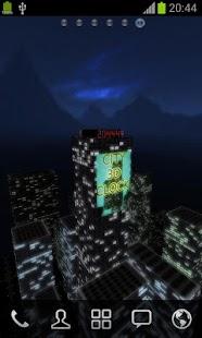 3D夜城時鐘