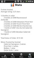 Screenshot of Wine + List, Ratings & Cellar