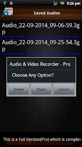 Audio and Video Recorder Lite screenshot 3