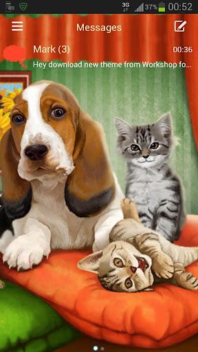 GO短信加強版主題狗貓