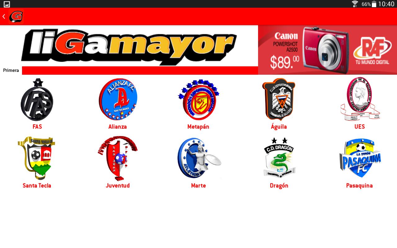 Liga Mayor - screenshot