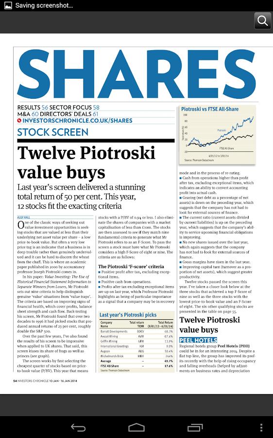 Investors Chronicle- screenshot