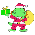 dinosaur girl Gauko logo