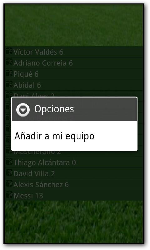 Comunio Puntos - screenshot