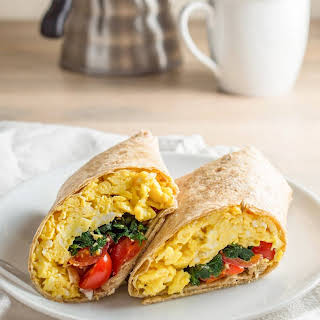Spinach Feta Breakfast Wraps.