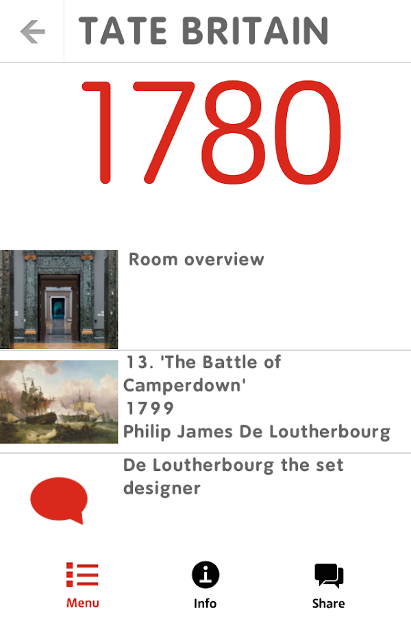 Tate Britain Mobile Guide- screenshot