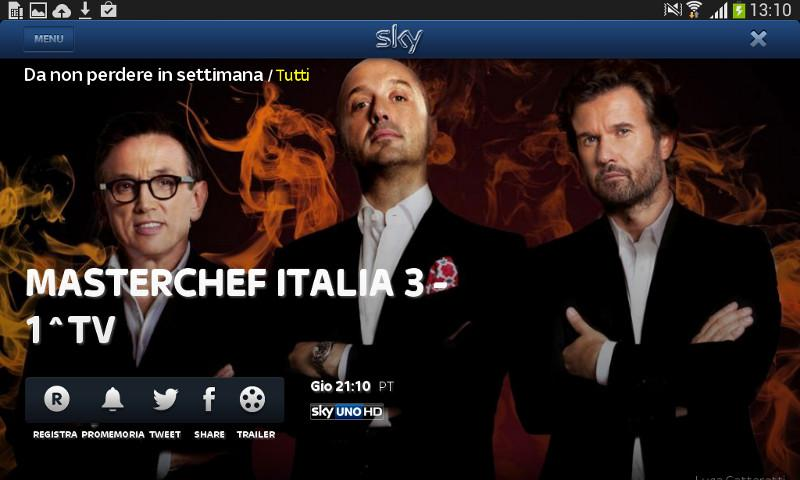 Sky Guida TV HD - screenshot