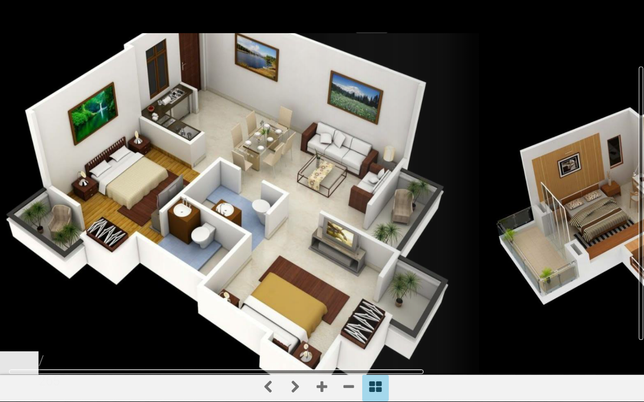 Interior design for my home - 3d Home Plans Screenshot