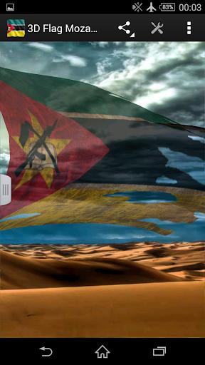 3D Flag Mozambique LWP