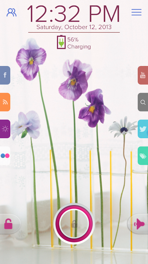 Pansy Flower - Start Theme - screenshot