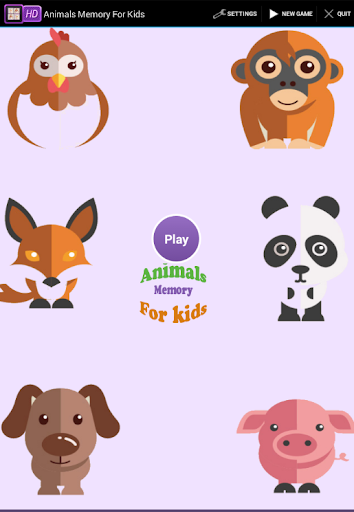 Animals Memory For kids