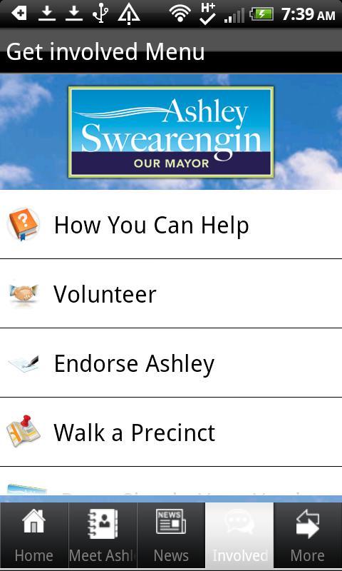 Ashley Swearengin for Mayor- screenshot