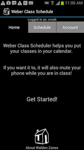 Weber State Class Calendar