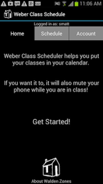 Weber State Class Calendar - screenshot