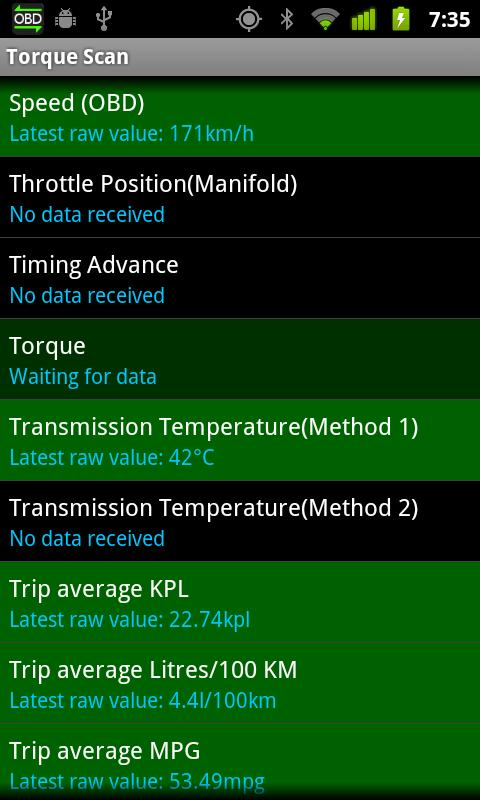 TorqueScan (Torque OBD Plugin) (Android) reviews at Android