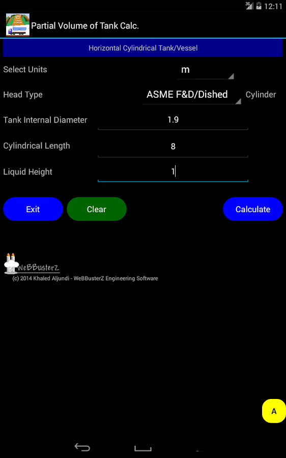 Volume Of Tank Calculator Free Android Apps On Google Play