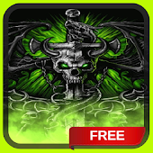 Dragon Skull Flames Live Wallpaper Theme LWP