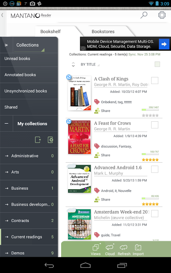 Mantano Ebook Reader Free- screenshot
