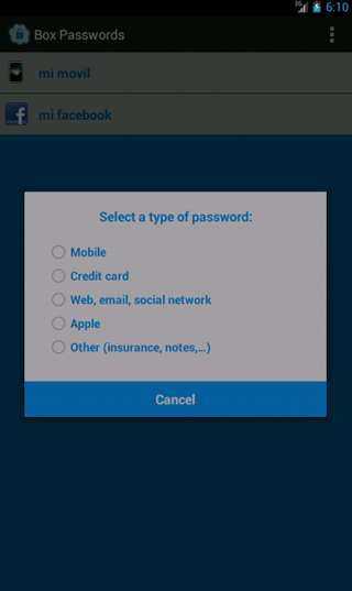 Box Security Passwords - screenshot