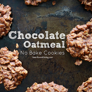 Chocolate Oatmeal No Bake Cookie.