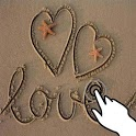 Magic touch: Drawings in sand icon