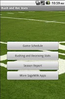 Screenshot of Youth Football Stats Tracker