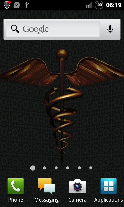 3D Caduceus Medical Wallpaper - screenshot