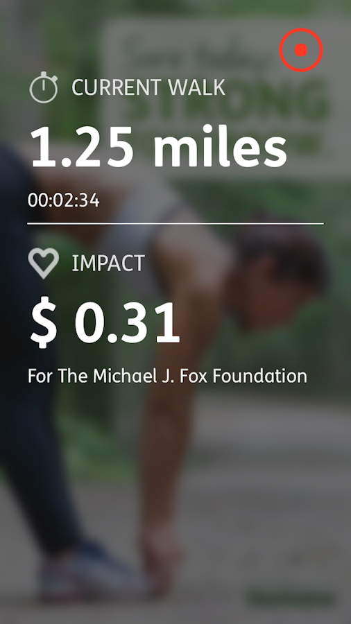 Charity Miles- screenshot