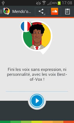 Voix Mendo'o le camerounais fr