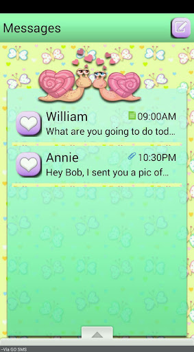 LoveBugs2 GO SMS THEME
