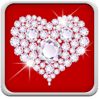 Diamante Corazones Fondos icon