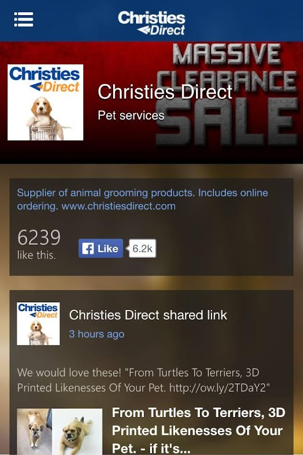 Christies Direct App- screenshot