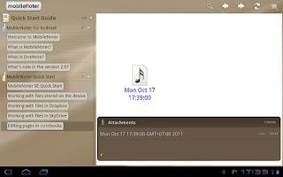 Screenshot of MobileNoter SE HD for Tablet