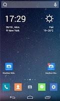 Screenshot of Maxthon-themed Launcher