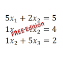 Equation with vars solver FREE icon