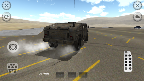 Extreme Military Car Driver