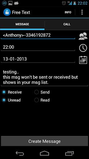 偽のメッセージ 通話