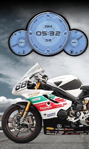 Triumph Moto Racer Widget LWP