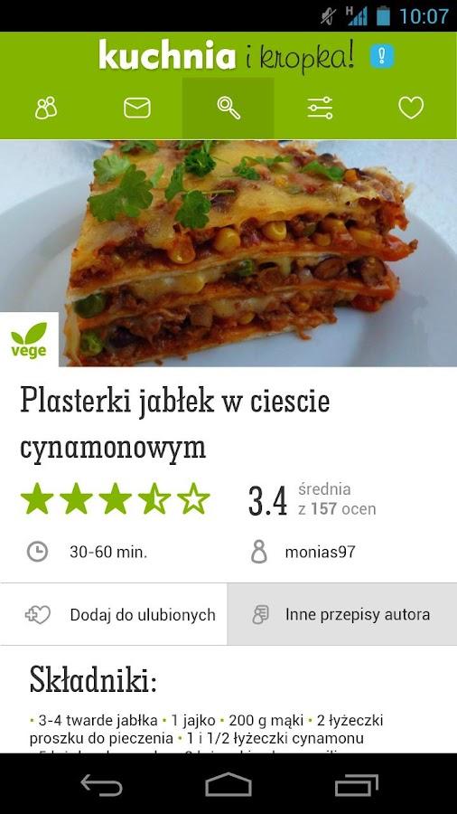 Przepisy - Kuchnia i Kropka - screenshot