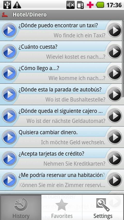 iSayHello Spanish - German- screenshot