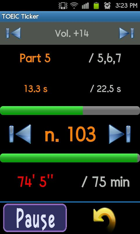 TOEIC Timer - screenshot