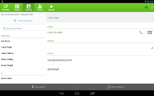 SendHub Business PBX - screenshot thumbnail