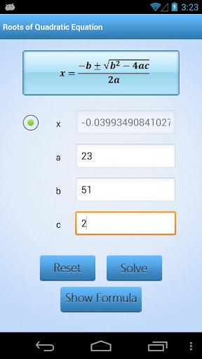 Math Formula Calculator