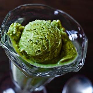 Basil Sweet Corn Ice Cream